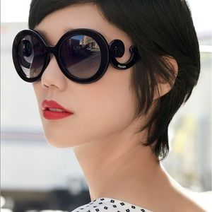PRADA baroque sunglasses black